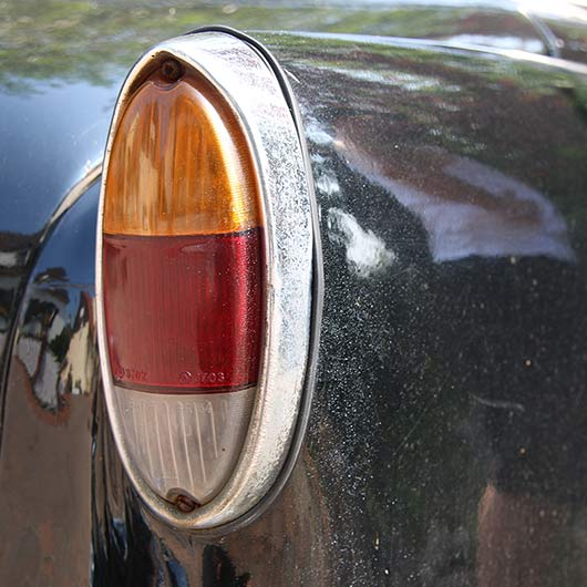 Tail light of an old car