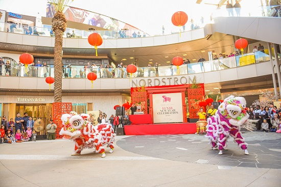 cultural performances in center plaza for Lunar New Year