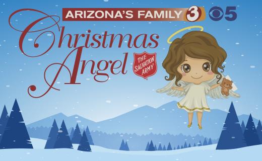 Arizona's Family Christmas Angel - Angel holding a teddy bear