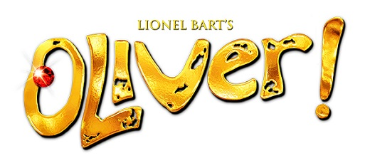 Lionel Bart's Oliver! in gold letters