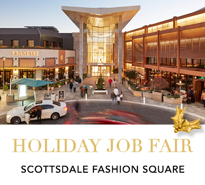 photo of the exterior of scottsdale fashion square luxury entrance  holiday job fair scottsdale fashion square