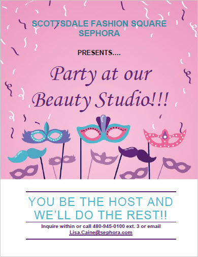 Sephora Party at our Beauty Studio