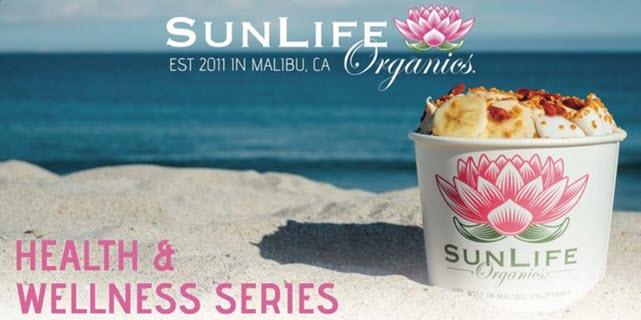 SunLife Organics Health & Wellness Series  Acai Bowl on the beach