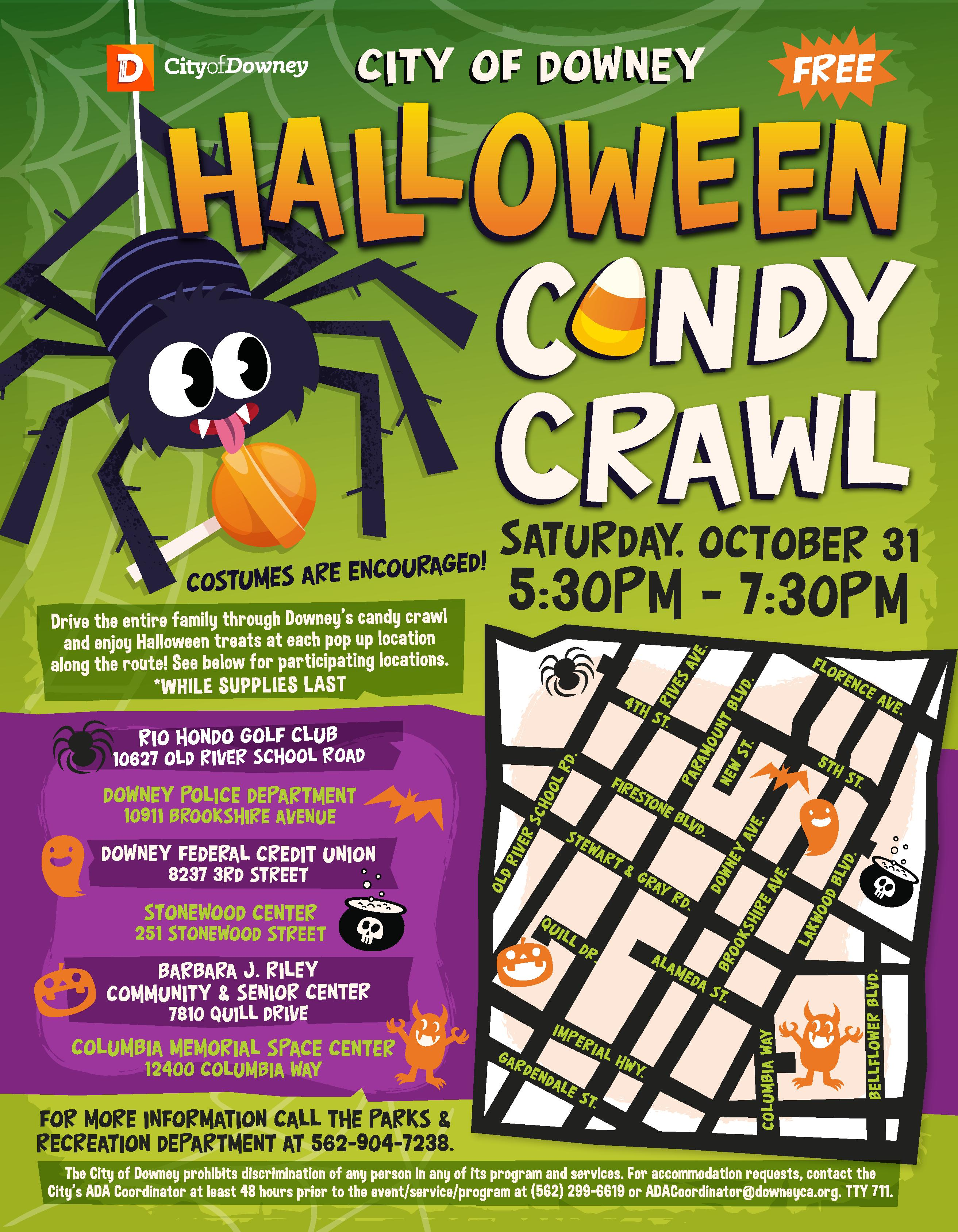 City of Downey Free Halloween Candy Crawl