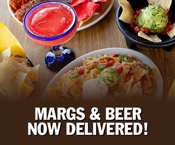 Margs & Beer now delivered.  Chips, salsa and guacamole.