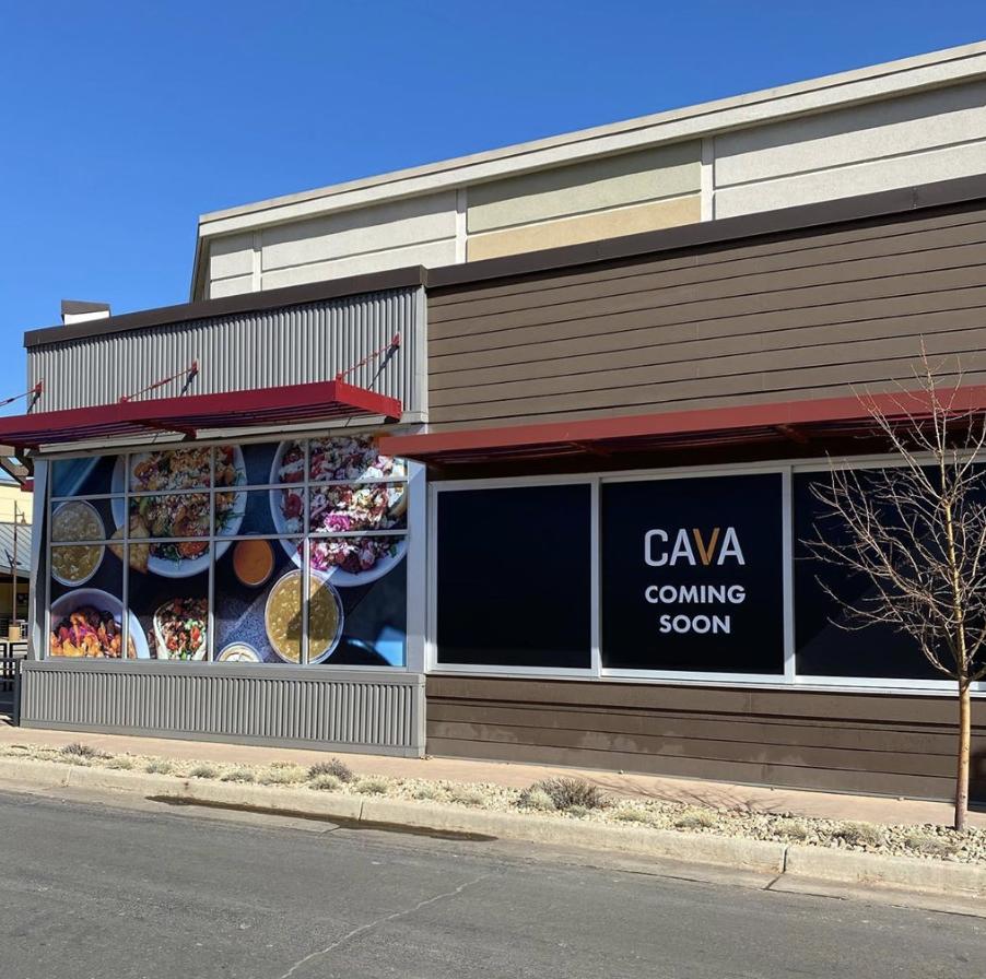 Image of new restaurant CAVA at Twenty Ninth Street.