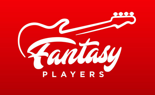 Fantasy Players logo with guitar drawing