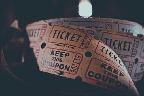 Movie tickets.
