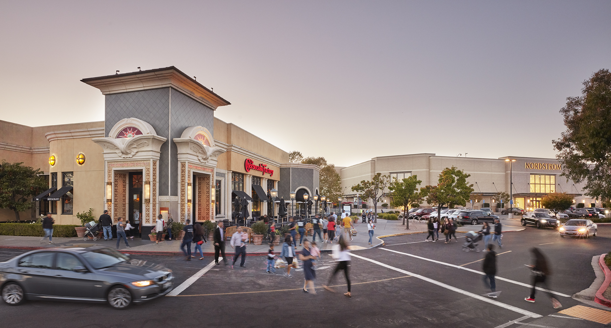 Cheesecake Factory and Nordstrom entry at The Village