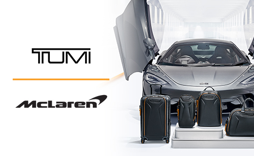 Tumi luggage and a McLaren to promote their new collection