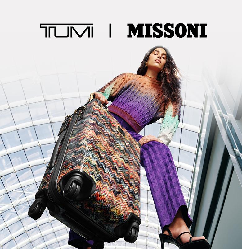Tumi's Missoni bag collection