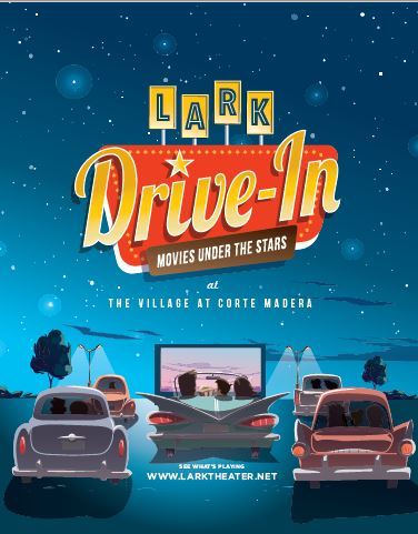 Lark Theater Drive-in movie nights at The Village at Corte Madera