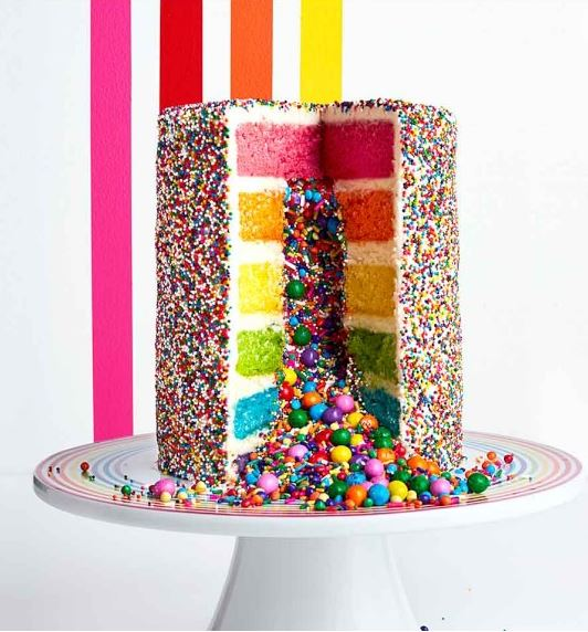 Image of Flour Shop Rainbow Explosion Cake from Williams Sonoma
