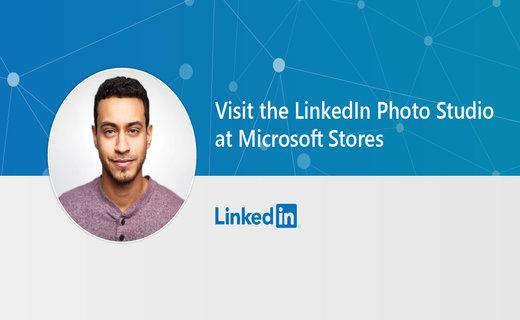 Image of Microsoft's LinkedIn Photo Studio promotion