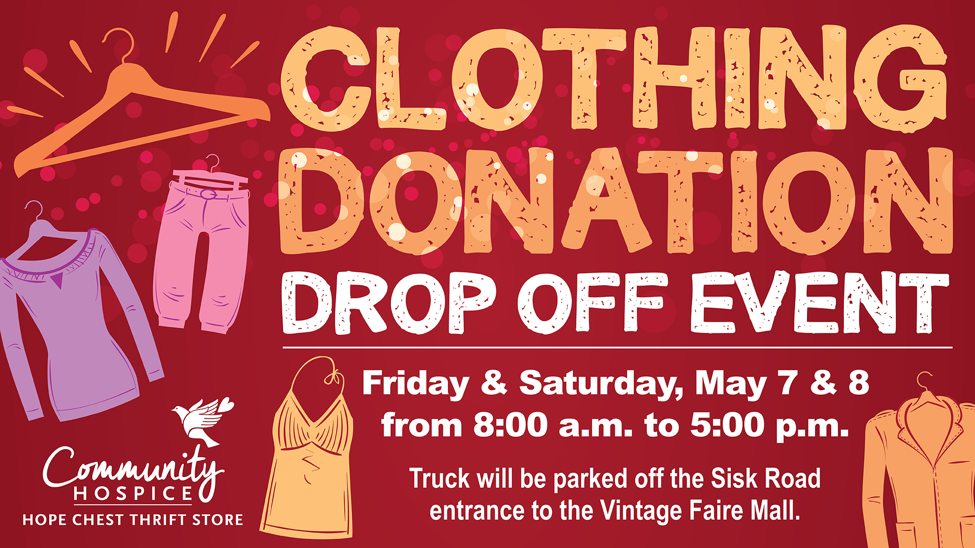 graphic for clothing drop off