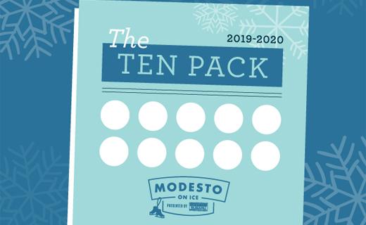 modesto on ice ten pack graphic