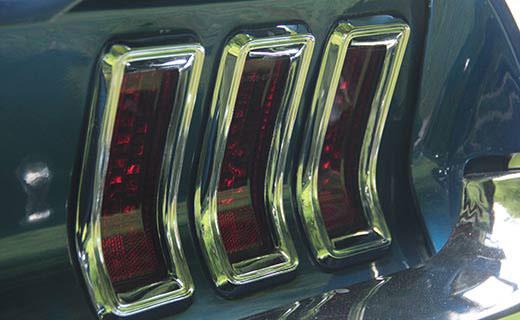 vintage car tail light
