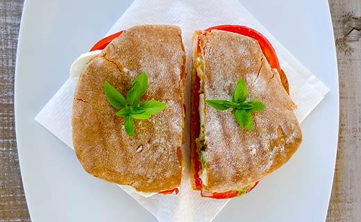 Sandwich on ciabatta