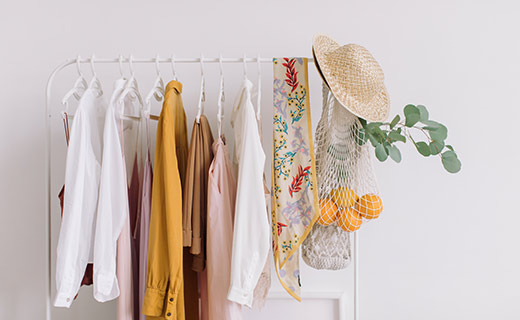 women's clothing on a clothing rack