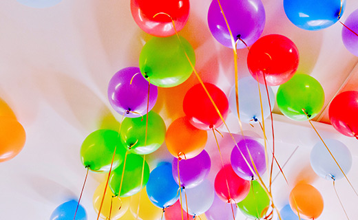 multi-colored balloons