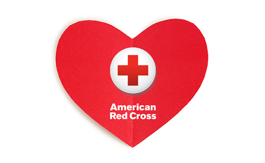 American Red Cross logo in red heart