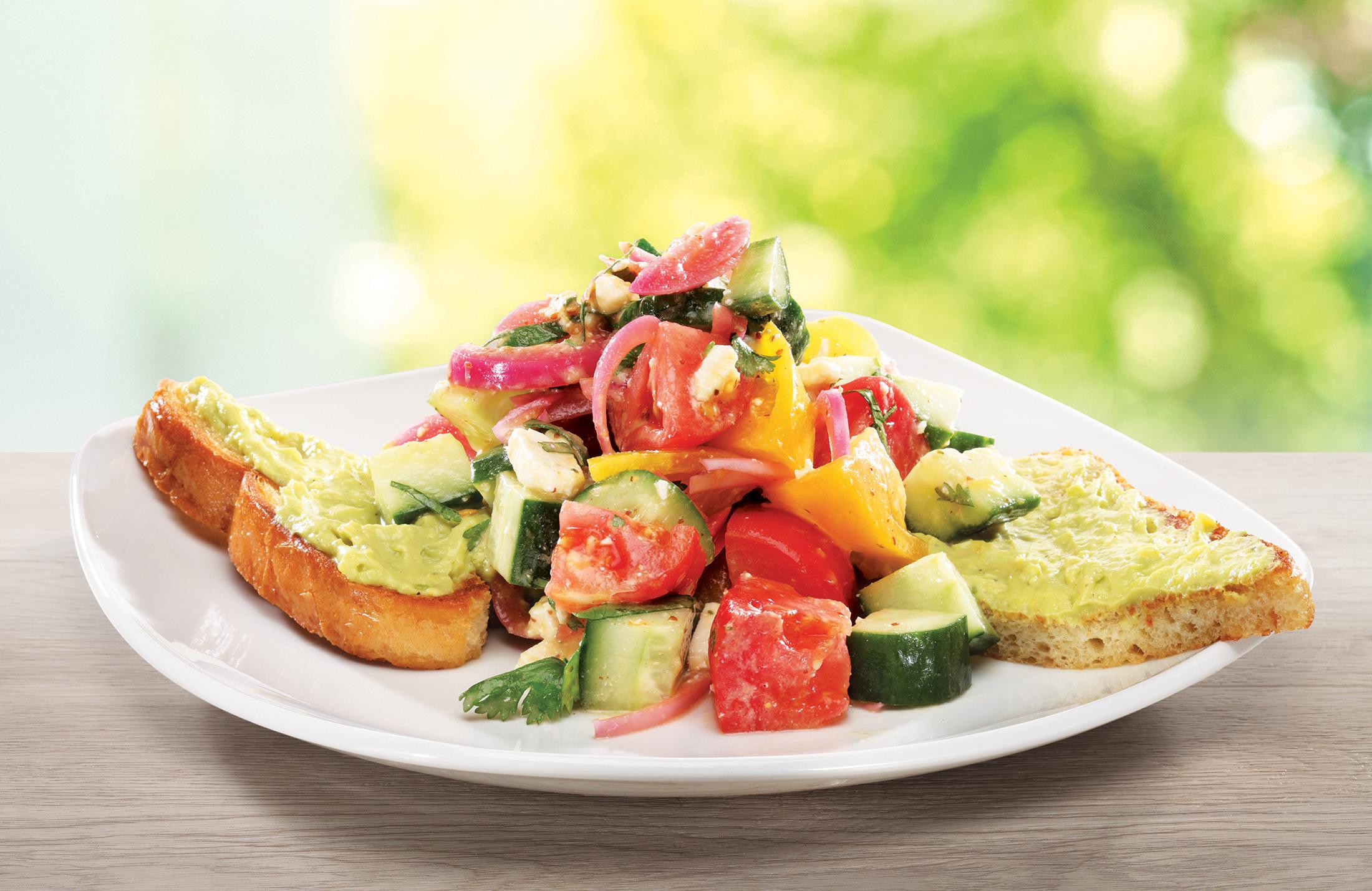 Shown: Avocado Toast Salad