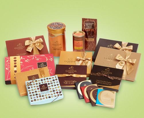 Assortment of Godiva boxes