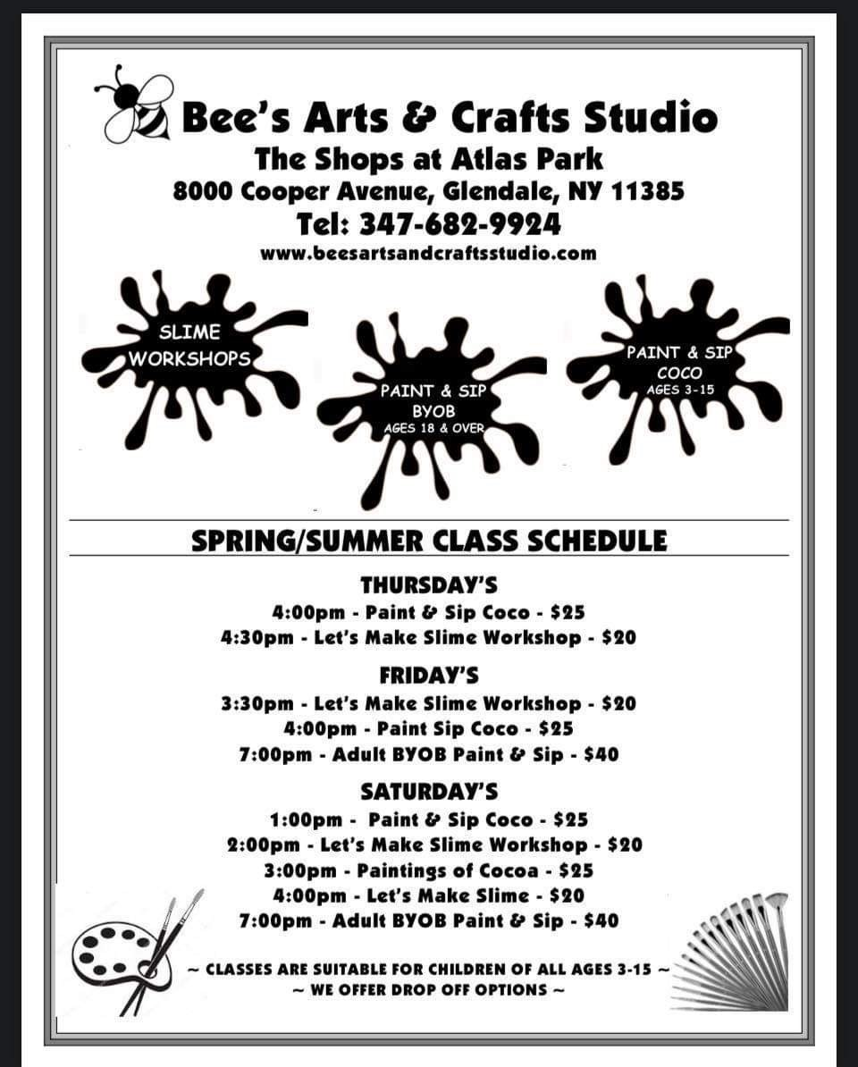Bee's Schedule with paint brushes and paint