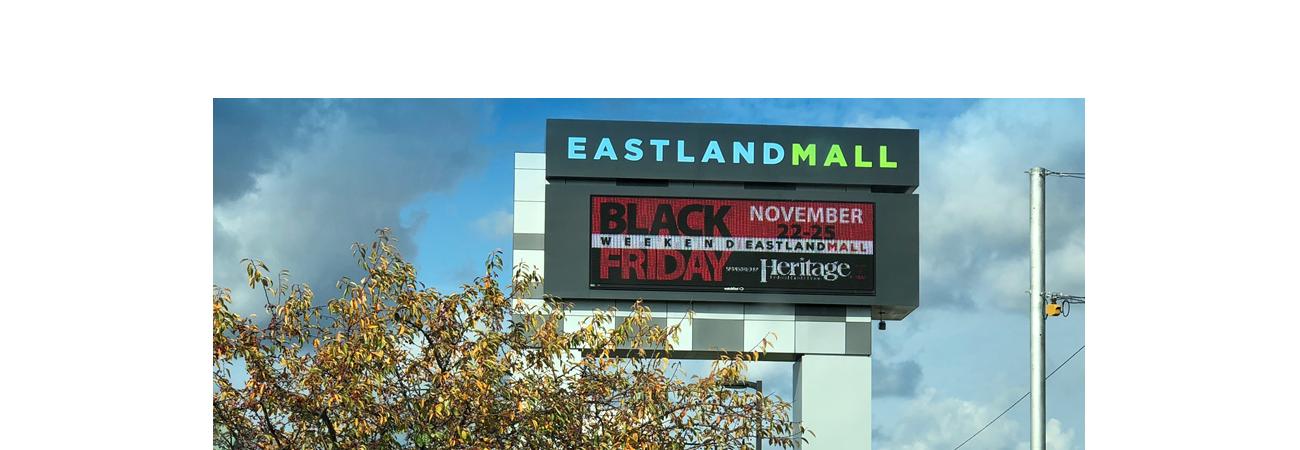 Eastland Mall Digital Message Advertising