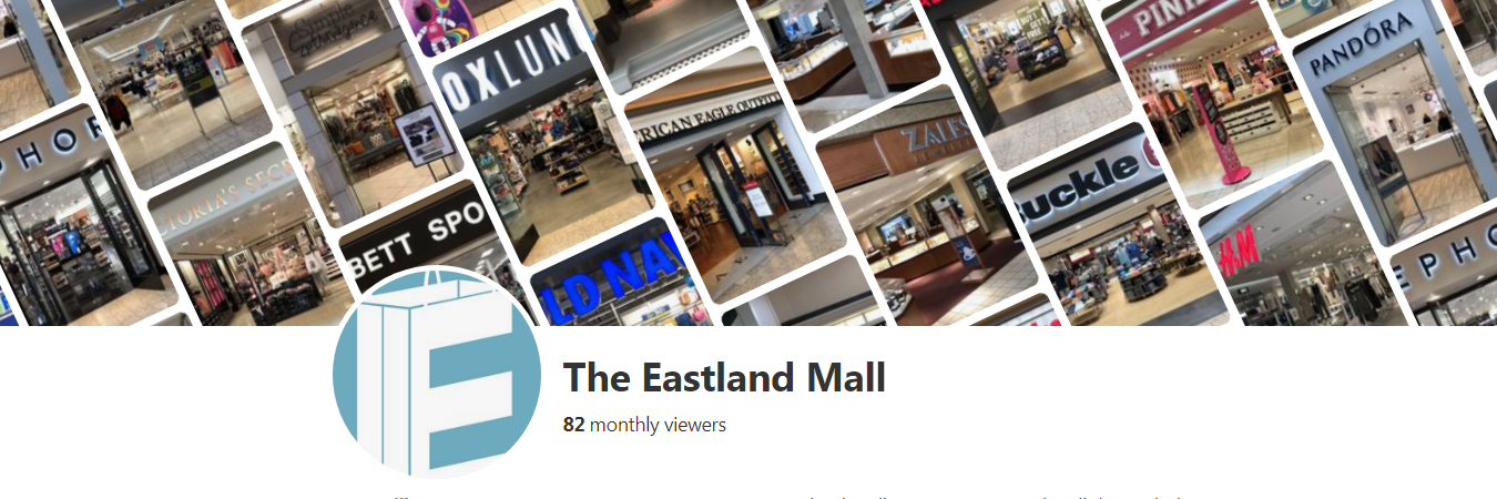 The Eastland Mall Pinterest Page