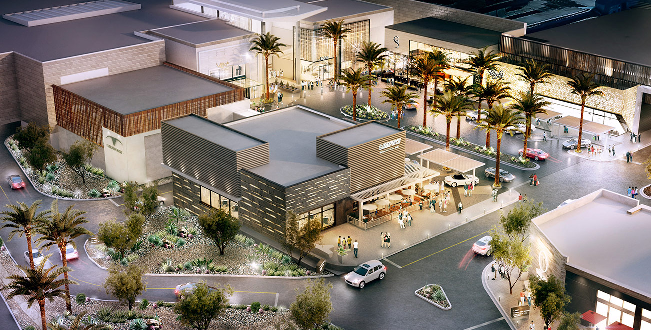 Rendering of the new luxury wing at Scottsdale Fashion Square