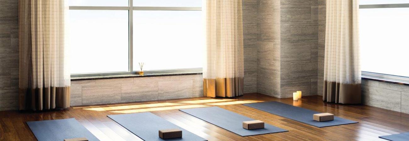 Yoga studio at Life Time