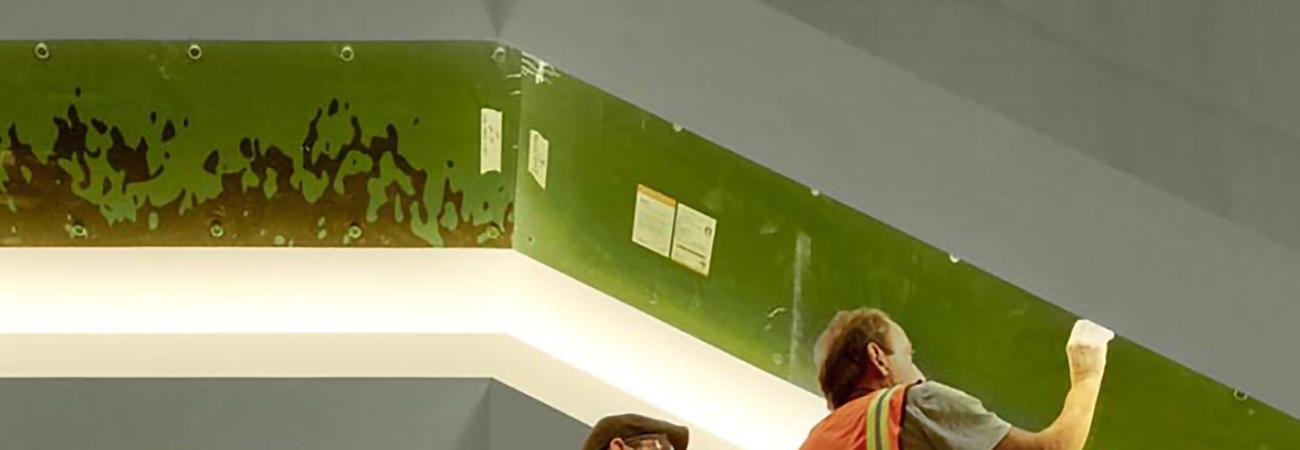 Eileen Neff's art installation under construction