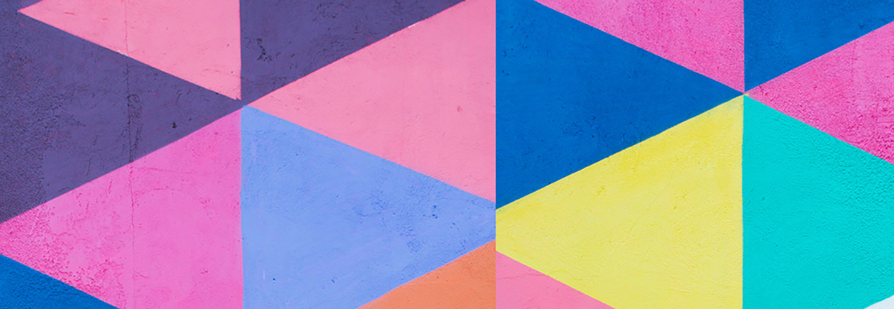 Geometric triangle pattern in bright colors