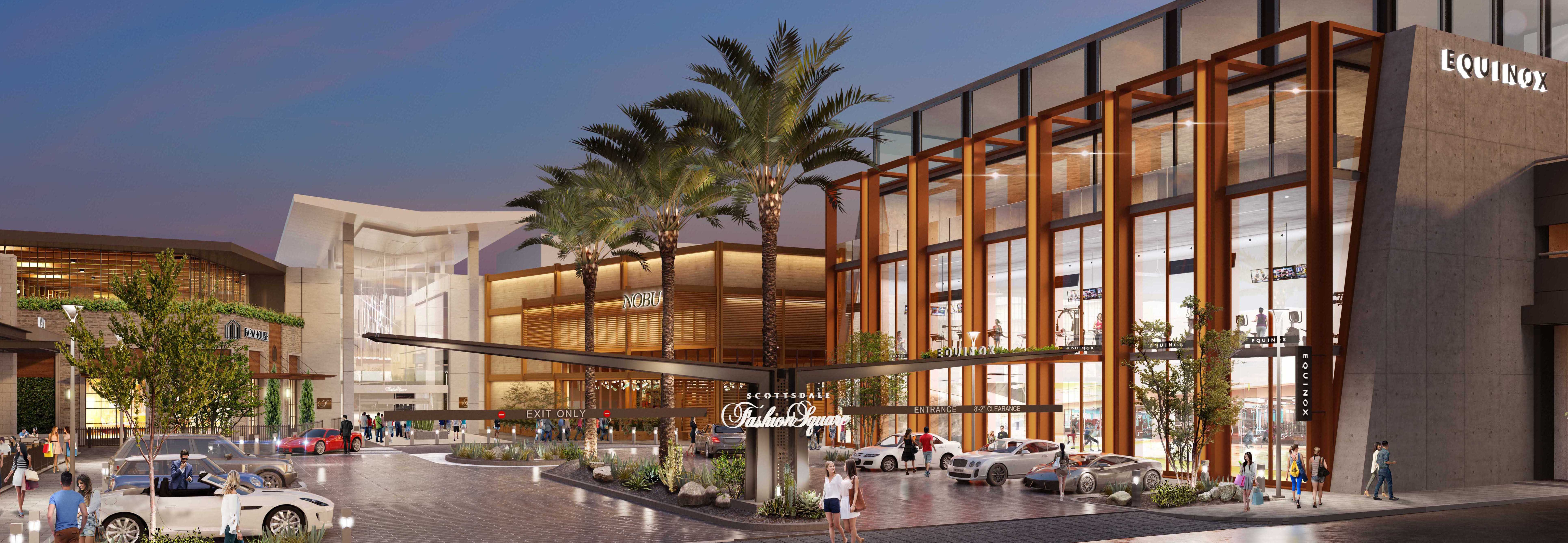 Rendering of the updates to Scottsdale Fashion Square