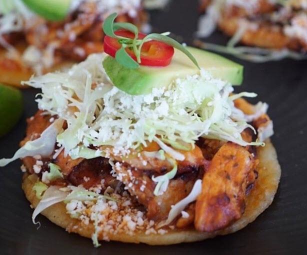 Street taco closeup