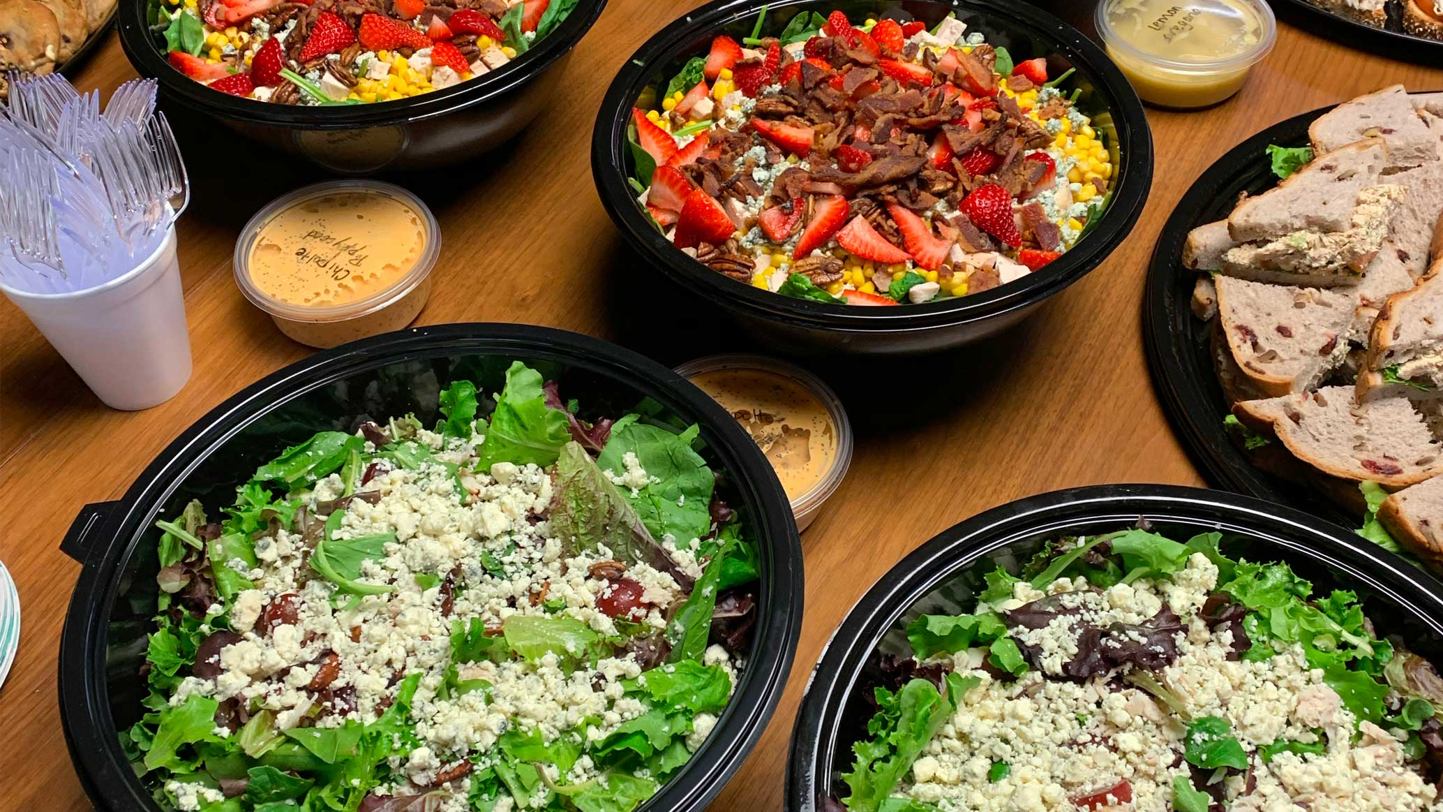 Corner Cafe salads to-go