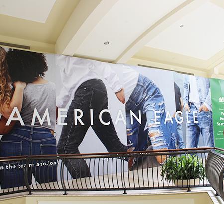 American Eagle barricade at The Oaks