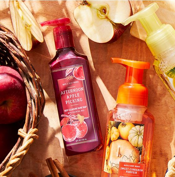 Fall themed hand soaps