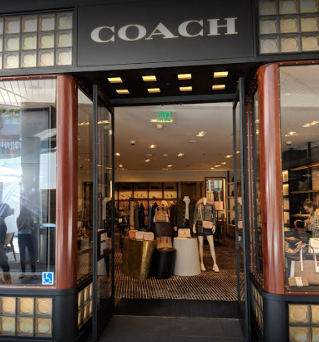 View inside Coach store