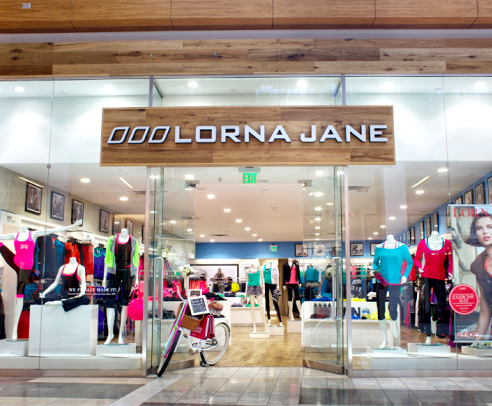 Lorna Jane storefront entrance