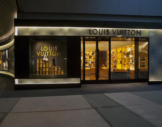 Louis Vuitton storefront entrance