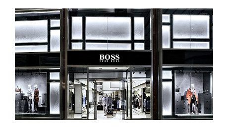 Inside view of BOSS store