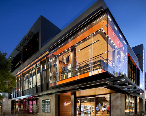 Nike storefront entrance