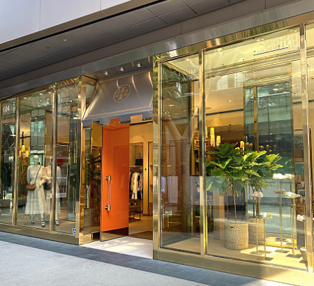 Tory Burch Front of store with orange door