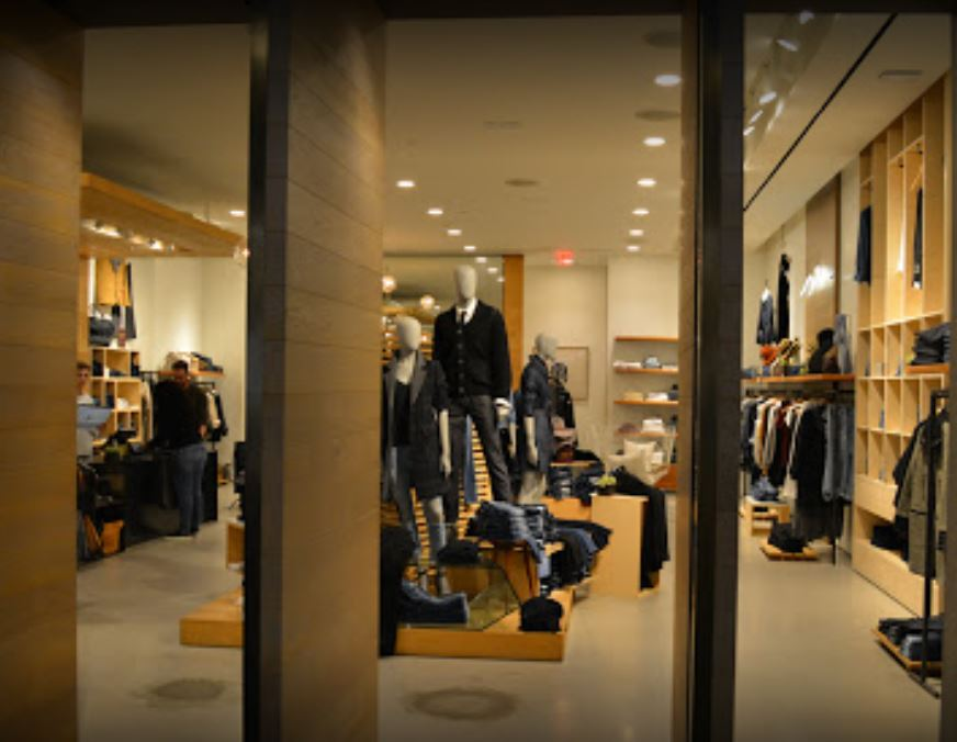 View of store through doors of Seven store at SMP