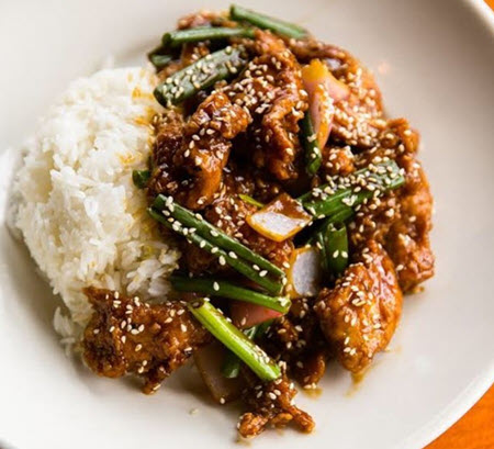 Photo of beef and rice dish