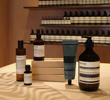 Aesop skin products