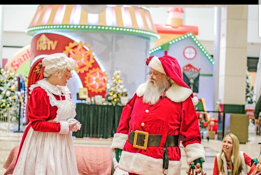 Mrs Claus and Santa at Santa HQ