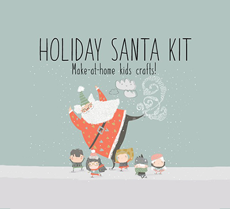 Holiday Santa Kit Make-at-home kids crafts!